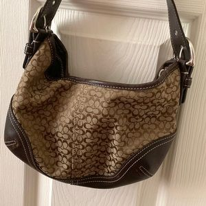 COACH Mini Hobo Bag Beige
